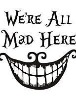 Недорогие -персонажи / хэллоуин клоун украшения настенные наклейки 43 * 43см