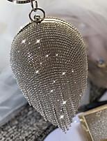 Недорогие -Жен. Молнии / Цепочки Сплав Вечерняя сумочка Сплошной цвет Серебряный