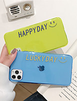 cheap -Case For Apple iPhone 11 11 Pro 11 Pro Max HAPPY DAY fluorescent TPU material scratch-resistant mobile phone case