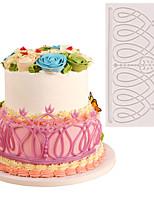 Недорогие -сделай сам торт кружева любовь кружева плесень помадка украшения торта силиконовые выпечки 1 шт.
