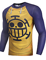 Недорогие -Вдохновлен One Piece Толстовка Как у футболки Полиэстер С принтом Рисунок маскарадный Толстовка Назначение Муж.