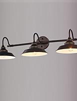 Недорогие -Зеркальная поверхность Винтаж / Традиционный / классический Настенные светильники кафе Металл настенный светильник 110-120Вольт 60 W
