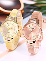 cheap -Ladies Quartz Watches Elegant Fashion Silver Gold Rose Gold Alloy Chinese Quartz Rose Gold Gold Silver Casual Watch 1 pc Analog One Year Battery Life