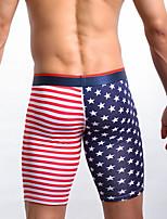 cheap -men's print cotton boxers underwear - normal, national flag 1 piece low waist red s m l