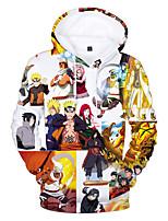 Недорогие -Вдохновлен Наруто Naruto Uzumaki Косплэй Kостюмы Толстовка Полиэстер / Хлопок С принтом Рисунок Толстовка Назначение Муж. / Жен.