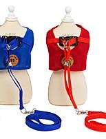cheap -Dog Harness Leash Walking Running Vest Mesh Cotton Husky Golden Retriever Beagle Bulldog Cocker Spaniel Bichon Frise Red Pink 1 set