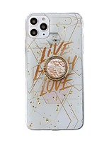 cheap -Case For Apple iPhone 11 / iPhone 11 Pro / iPhone 11 Pro Max Ring Holder Back Cover Word / Phrase TPU