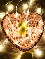 Недорогие -1m Гирлянды 10 светодиоды Тёплый белый Декоративная / Новогоднее украшение для свадьбы 5 V
