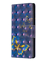 Недорогие -Кейс для Назначение SSamsung Galaxy S9 / S8 Plus / Note 9 Защита от удара / С узором Чехол Плитка / Пейзаж Кожа PU / ТПУ