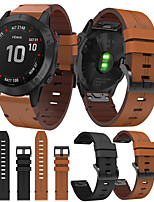 cheap -Smartwatch Band for Garmin Fenix 6X  6 Fenix6s  5s 5 5x 3 3HR Leather Loop Genuine Leather Sport Business Bands High-end Fashion comfortable Health Wrist Straps