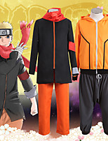 Недорогие -Вдохновлен Наруто Naruto Uzumaki Аниме Косплэй костюмы Японский Инвентарь Пальто Брюки Назначение Муж. Жен.