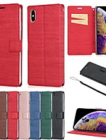 cheap -Case For Apple iPhone 11 / iPhone 11 Pro / iPhone 11 Pro Max Card Holder / with Stand Full Body Cases Tile PU Leather / TPU