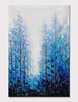 cheap -Mintura Large Size Hand Painted Knife Trees Landscape Oil Paintings on Canvas Modern Abstract Pop Art Wall Pictures For Home Decoration No Framed