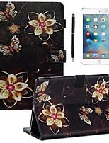 Недорогие -кейс&усилитель; Стилус&усилитель; 1шт защита экрана для Apple Ipad Pro 11'2018 / новый воздух (2019) /10.2''(2019)/10.5 с подставкой / флип / ультратонкая задняя крышка бабочка / цветок
