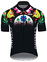 Недорогие -21Grams Муж. С короткими рукавами Велокофты Черный / зеленый Велоспорт Джерси Верхняя часть Горные велосипеды Шоссейные велосипеды Устойчивость к УФ Дышащий Быстровысыхающий Виды спорта Одежда