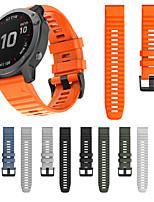 Недорогие -ремешок для часов garmin fenix 6 / fenix 5 plus / fenix 5 спортивная группа garmin / классическая пряжка / современная пряжка силиконовый ремешок на запястье для garmin fenix 6