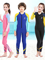 cheap -ZCCO Boys' Girls' Rash Guard Dive Skin Suit Diving Rash Guard One Piece Swimsuit Full Body Front Zip - Swimming Diving Surfing Patchwork Autumn / Fall Spring Summer / Winter / Kid's