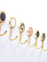 Недорогие -натуральный мрамор текстуры раковин шесть крючков круглое полотенце латунный халат крючок сумка для одежды антикварная медная вешалка 3м сильная вязкость самоклеящаяся упаковка 6 смешанных цветов