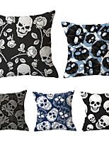 Недорогие -5 шт. Декоративная подушка простая классика 45 * 45 см хлопок / лен наволочка абстрактный шик&усилитель; современная декоративная подушка