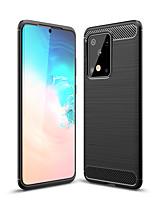 Недорогие -naxtop карбоновый матовый мягкий бампер задняя крышка полностью защитный чехол для телефона для Samsung Galaxy S20 Ultra / S20 Plus / S20 A90 5 г M31 M30S A70S A71 A51