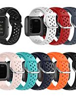 Недорогие -Ремешок для часов для Fitbit Versa / Fitbi Versa Lite / Fitbit Versa2 Fitbit Спортивный ремешок / Современная застежка силиконовый Повязка на запястье