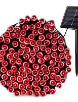 Недорогие -YWXLIGHT® 10 м Гирлянды 100 светодиоды 1шт Тёплый белый / Холодный белый / Красный День святого Валентина / Рождество Декоративная Солнечная энергия
