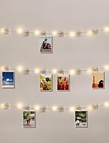 Недорогие -20led фото клип свет светодиодный красочный свет ночной свет украшения свет зал спальня атмосфера свет партии свадебные украшения свет конфигурации 20 dlips 1 компл.