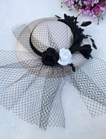cheap -Net Fascinators with Flower 1 Piece Tea Party / Horse Race Headpiece