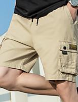 cheap -Men's Hiking Shorts Outdoor Breathable Quick Dry Sweat-wicking Wear Resistance Shorts Bottoms Hunting Fishing Climbing Army Green Khaki Black M L XL XXL XXXL Standard Fit
