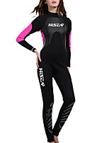 cheap -HISEA® Women's Full Wetsuit 3mm SCR Neoprene Diving Suit Long Sleeve Patchwork Autumn / Fall Spring Summer / Winter / Stretchy