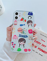 cheap -Case For Apple iPhone 11 11 Pro 11 Pro Max Eat Little fairy pattern High penetration TPU material Painting process scratch proof phone case