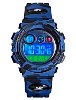 cheap -SKMEI Kids Sport Watch Quartz Modern Style Sporty Silicone Blue / Green 50 m Alarm Calendar / date / day Chronograph Digital Camouflage Outdoor - Green Blue One Year Battery Life