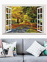 cheap -Landscape / Floral / Botanical Wall Stickers 3D Wall Stickers Decorative Wall Stickers, PVC Home Decoration Wall Decal Wall Decoration 1pc