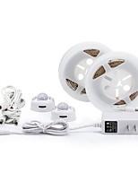Недорогие -1.2м гибкие светодиодные полосы света гибкие огни tiktok 30 светодиодов 2835 smd теплый белый декоративный / ТВ фон 12 В