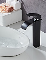 cheap -Bathroom Sink Faucet - Waterfall Painted Finishes Centerset Single Handle One HoleBath Taps