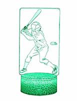 Недорогие -ночная лампа бейсбола light3d 16 цветов меняются с помощью сенсорного управления для детей ночники оптическая иллюзия лампы для мальчиков и девочек бейсбол спортивные идеи подарков для поклонника