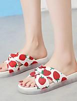 cheap -Women's Sandals Flat Sandal Summer Flat Heel Open Toe Daily Canvas Yellow / Red / Beige