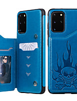 cheap -Case For Samsung Galaxy S20 Plus / S20 Ultra / S20 Wallet / Card Holder / Shockproof Back Cover Skull PU Leather