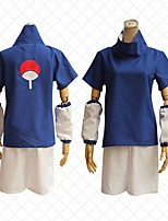 cheap -Inspired by Naruto Uchiha Sasuke Anime Cosplay Costumes Japanese Outfits Shorts T-shirt For Men's Women's