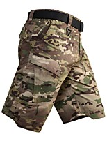 cheap -Men's Hiking Shorts Hiking Cargo Shorts Camo Summer Outdoor Breathable Quick Dry Ventilation Ultra Light (UL) Shorts Bottoms Camping / Hiking Hunting Fishing Black Camouflage S M L XL XXL Loose