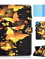 cheap -Case For Apple iPad Air/iPad Mini 3/2/1/4/5 Card Holder / Flip / Pattern Full Body Cases Butterfly PU Leather For iPad Air 10.5 2019/Pro 9.7/iPad 10.2/Pro 11 2020/iPad 2017/iPad 2018
