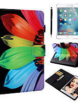cheap -Case & 1pcs Stylus pen & 1pcs Screen Protect For Apple iPad Mini 12345 with Stand / Flip / Ultra-thin Back Cover Flower PU Leather