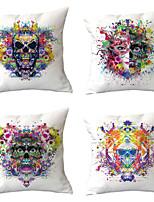cheap -4 pcs Throw Pillow Simple Classic 45*45 cm Cotton / Linen Pillow Cover Nature Modern Contemporary