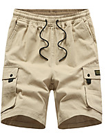 "cheap -Men's Hiking Shorts Hiking Cargo Shorts Summer Outdoor 10"" Loose Breathable Quick Dry Sweat-wicking Comfortable Cotton Shorts Bottoms Camping / Hiking Hunting Fishing Black Army Green Khaki M L XL"