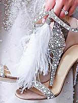 Недорогие -Жен. Свадебная обувь На шпильке Открытый мыс Полиуретан Весна лето Бежевый / Свадьба