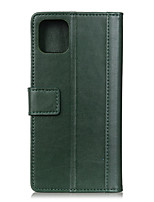 Недорогие -Кейс для Назначение Apple iPhone 11 / iPhone 11 Pro / iPhone 11 Pro Max Бумажник для карт / Защита от удара Кейс на заднюю панель Плитка Кожа PU / ТПУ