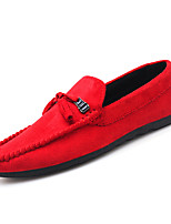 cheap -Men's Spring / Summer Classic / Casual Daily Office & Career Loafers & Slip-Ons Suede Breathable Non-slipping Wear Proof Black / Red