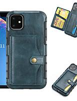 Недорогие -Кейс для Назначение Apple iPhone 11 / iPhone 11 Pro / iPhone 11 Pro Max Бумажник для карт Кейс на заднюю панель Плитка Кожа PU