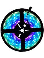Недорогие -5м гибкие светодиодные полосы RGB TIKTOCK огни 300 светодиодов SMD5050 10мм 1шт многоцветный водонепроницаемый / вечеринка / самоклеящиеся 12 В