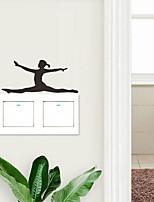 Недорогие -Пейзаж / Геометрия Наклейки Люди стены стикеры Наклейки для выключателя света, PVC Украшение дома Наклейка на стену Стена / Переключения Украшение 5 шт. / 1шт